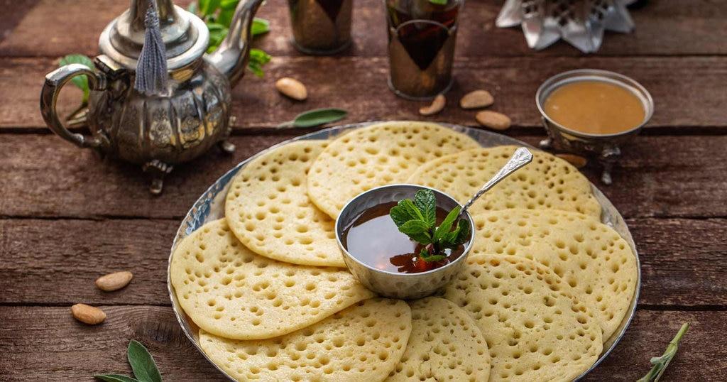 Baghrir et thé à la menthe - Maroc