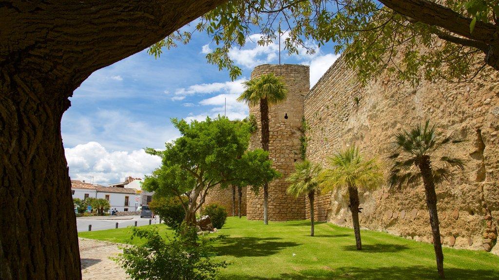 Puerta de Almocabar showing a park and heritage elements