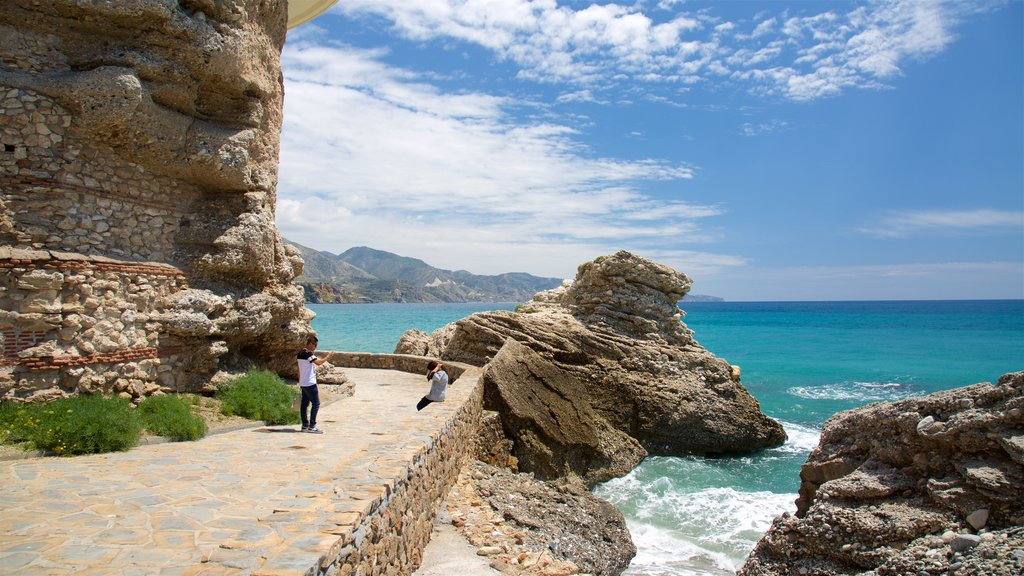 Nerja which includes rugged coastline and general coastal views