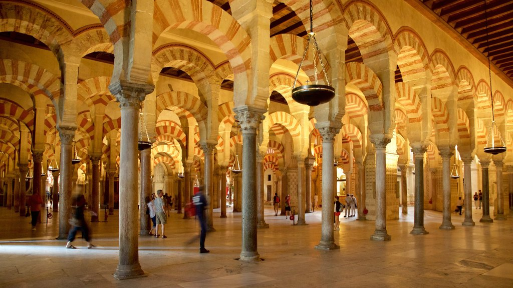 Cordoba Mosque featuring heritage elements and interior views