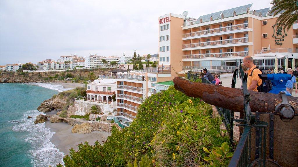 Balcon de Europa featuring a coastal town, general coastal views and views