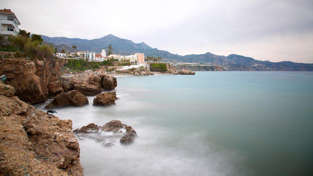 Balcon de Europa which includes rugged coastline and general coastal views