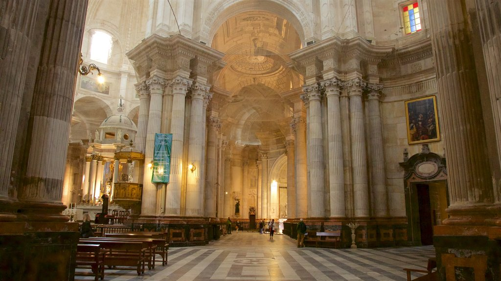 Cadiz Cathedral featuring a church or cathedral and interior views