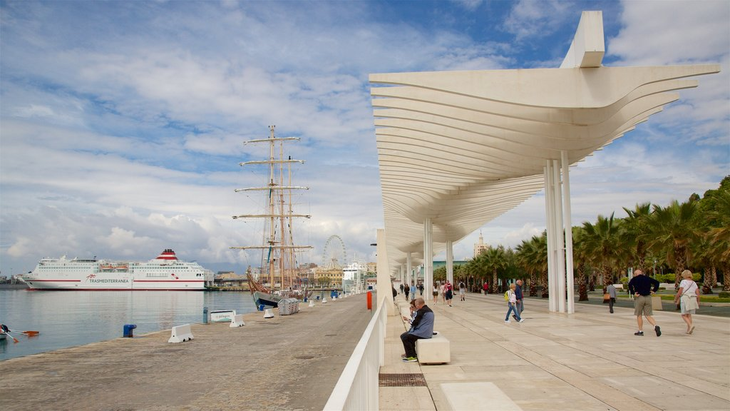 Port of Malaga which includes general coastal views and a marina