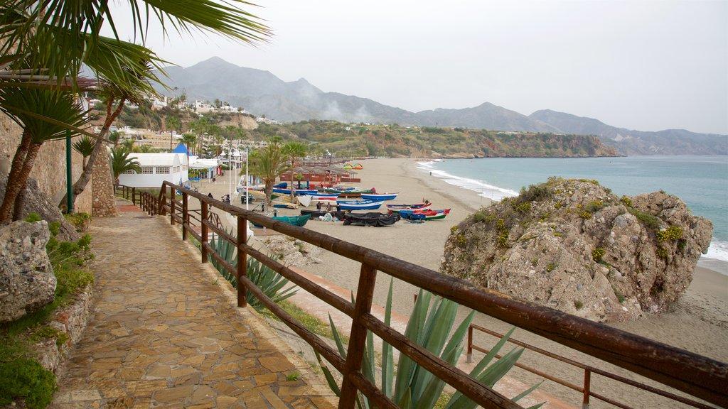 Burriana Beach showing a sandy beach