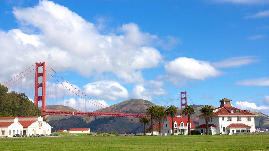 San Francisco mostrando tierras de cultivo, un puente y vistas de paisajes