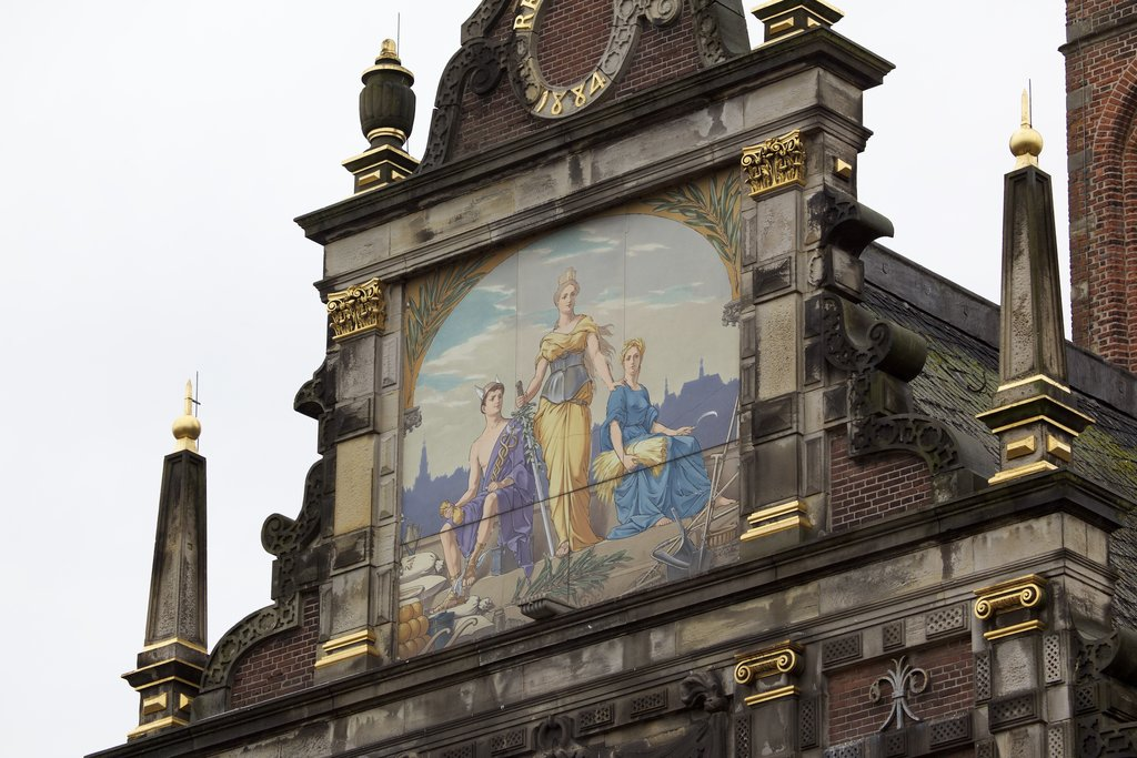 Waag showing art, heritage architecture and heritage elements