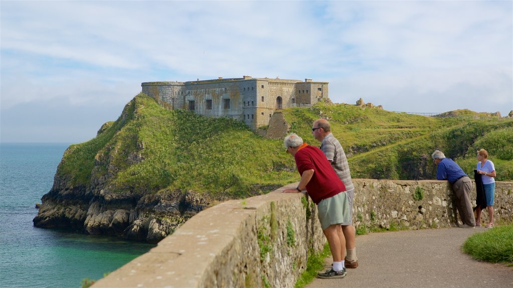 Tenby featuring rugged coastline, views and general coastal views