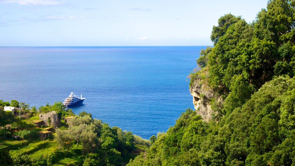 Amalfi which includes boating, general coastal views and rugged coastline