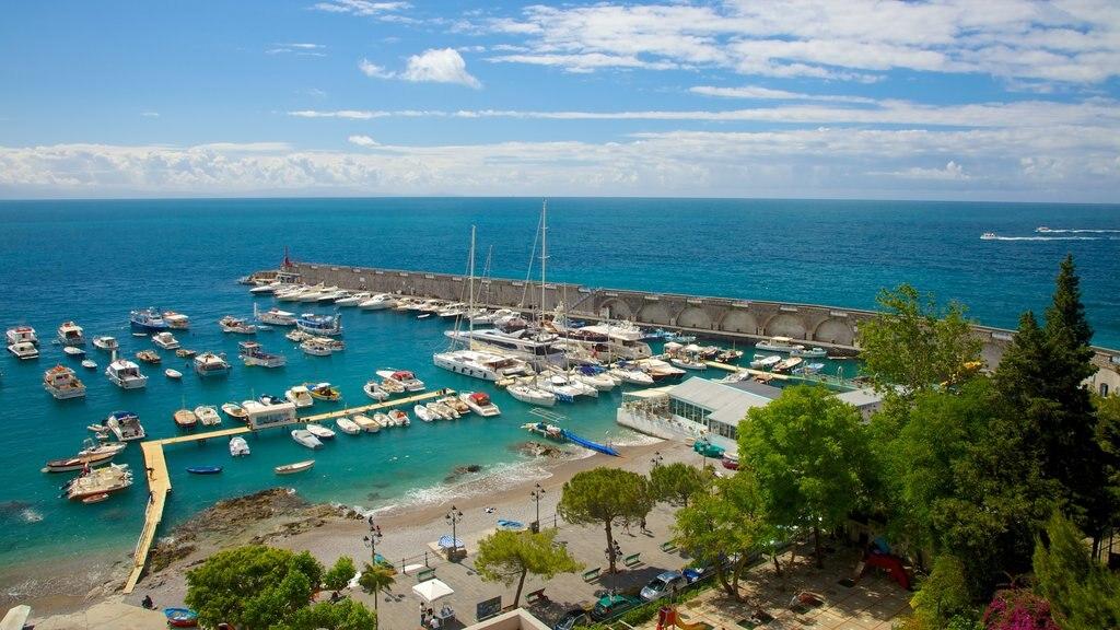 Amalfi showing general coastal views and a marina