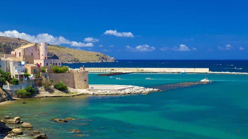 Castellammare del Golfo showing general coastal views, rocky coastline and tropical scenes