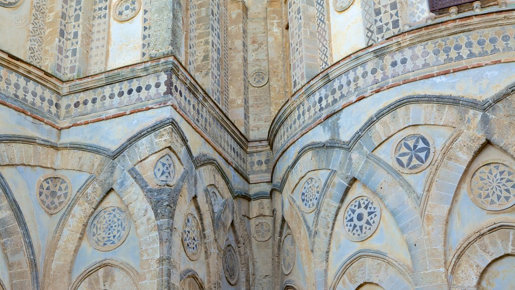 Cathedral of Monreale which includes heritage architecture and a church or cathedral