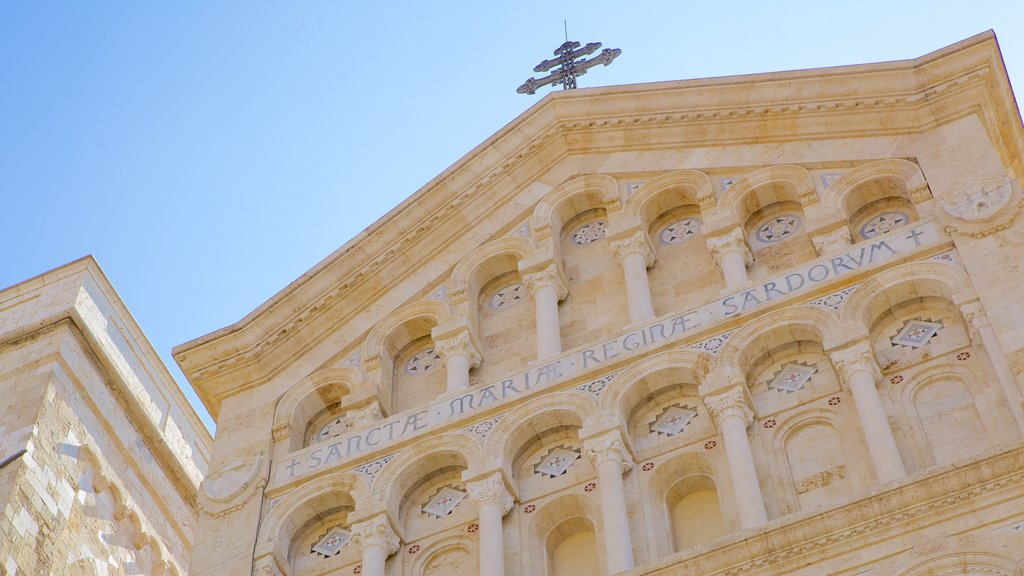 Cagliari Cathedral featuring religious aspects, a church or cathedral and heritage architecture