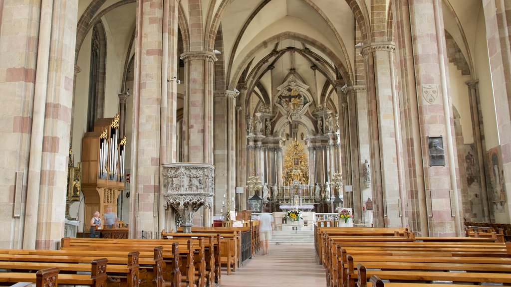 Cathedral of Bolzano which includes religious elements, heritage architecture and interior views