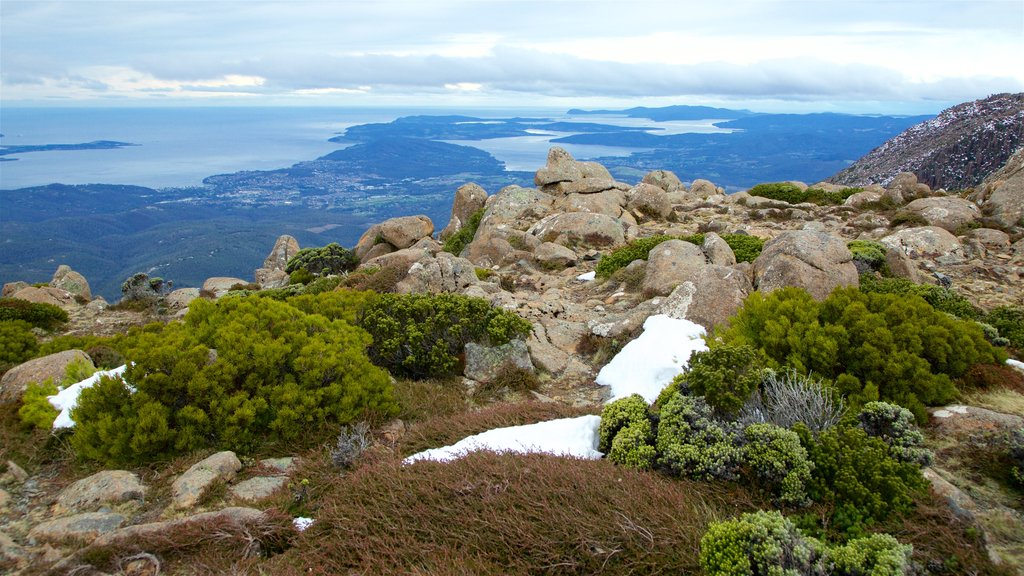 Mt. Wellington showing general coastal views, views and tranquil scenes