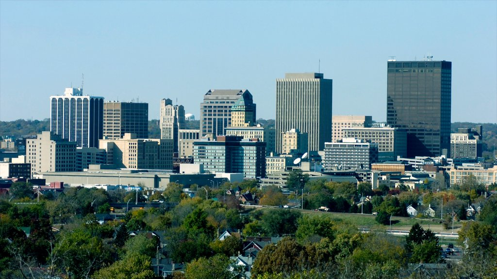 Akron which includes a city