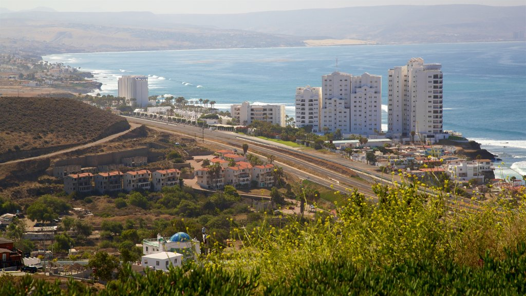 Rosarito featuring general coastal views, landscape views and a coastal town