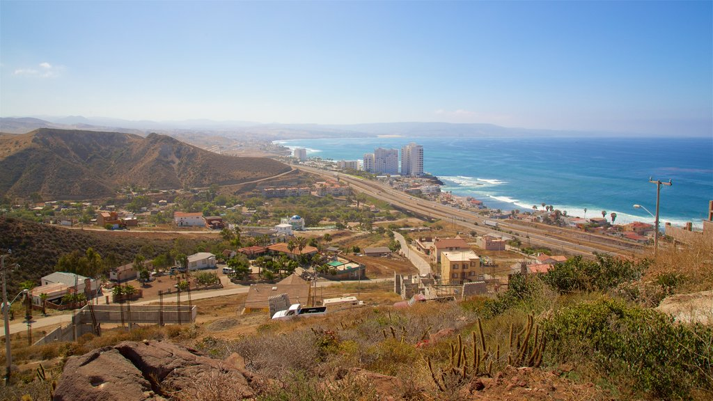 Rosarito which includes a coastal town, tranquil scenes and general coastal views