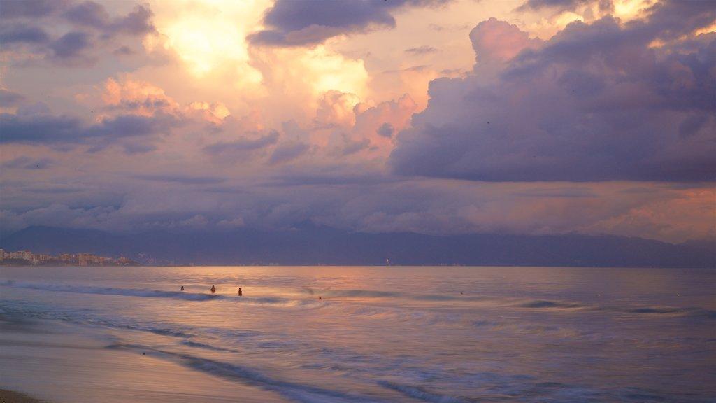 Nuevo Vallarta Beach featuring general coastal views, a sandy beach and a sunset