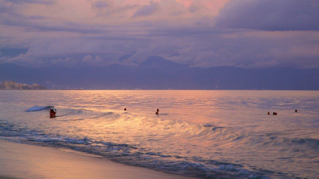Nuevo Vallarta Beach featuring a sunset, general coastal views and surf