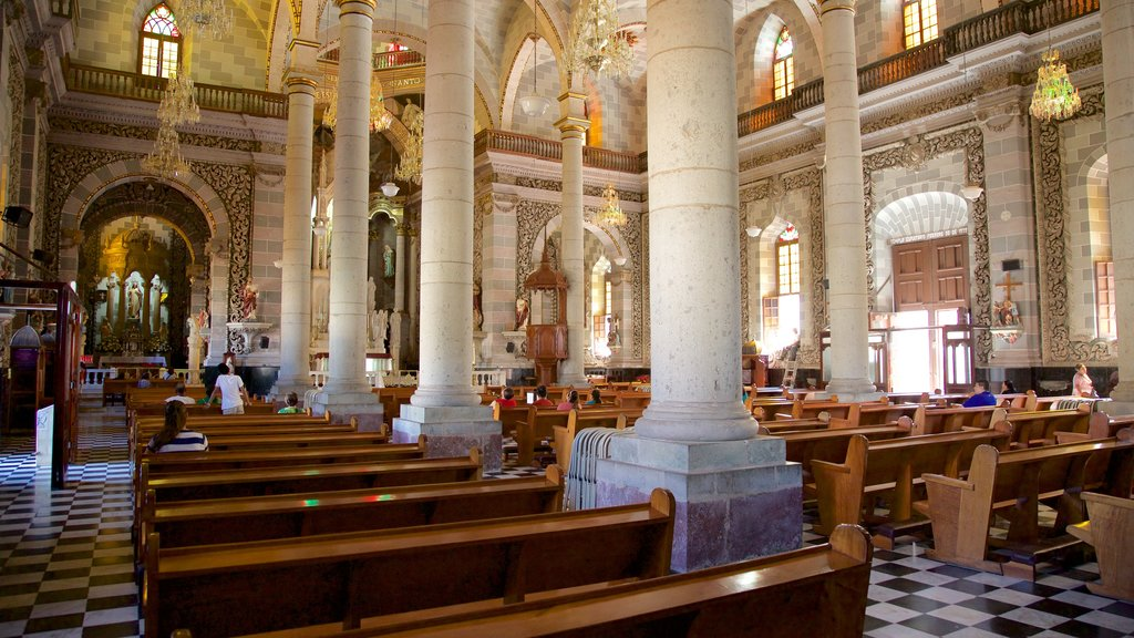 Immaculate Conception Cathedral showing heritage architecture, a church or cathedral and interior views