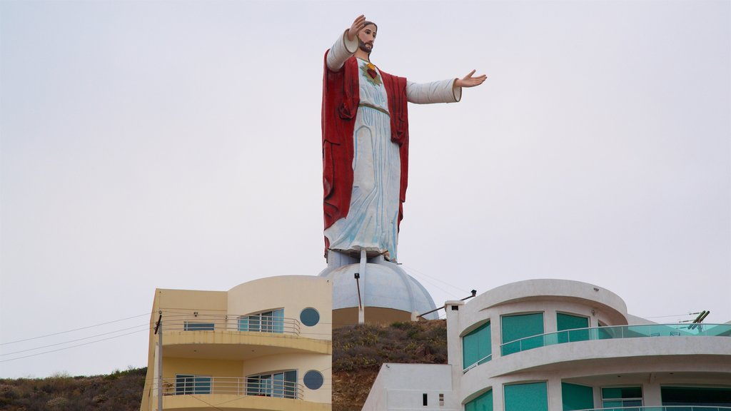 Rosarito showing a statue or sculpture and religious aspects
