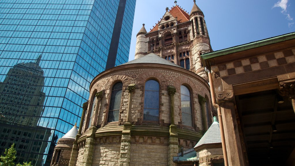 Copley Square showing heritage architecture and a city