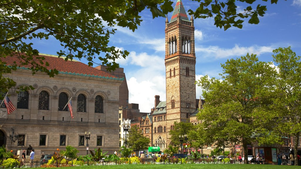 Copley Square featuring landscape views, a city and a park