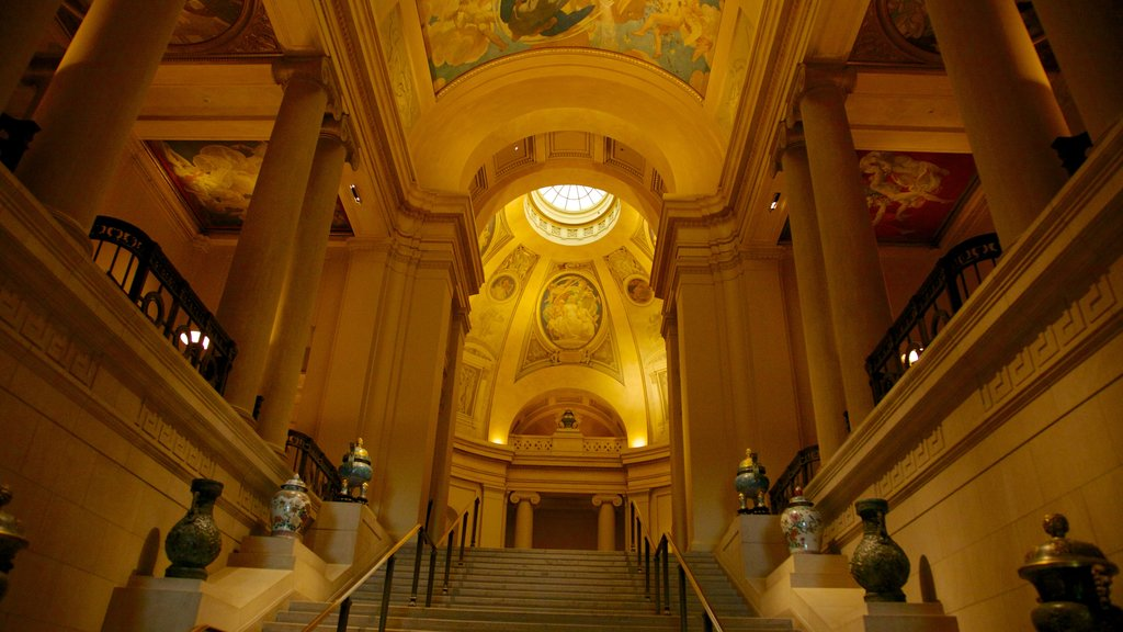 Boston Museum of Fine Arts featuring interior views