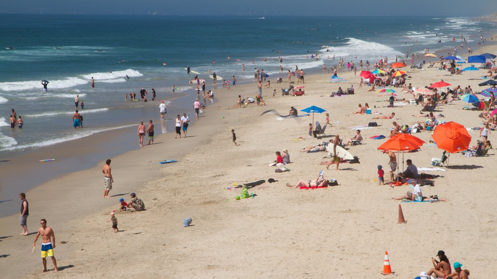 Huntington Beach featuring swimming, a beach and landscape views