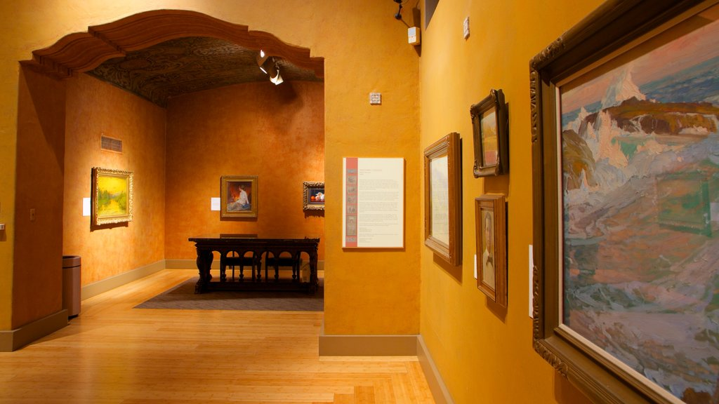 Bowers Museum featuring interior views