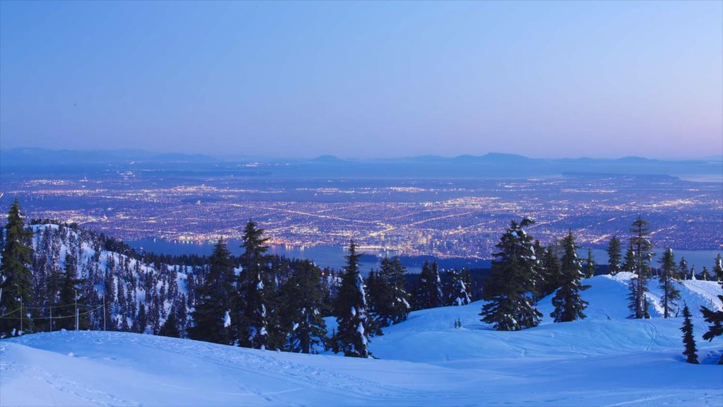 Grouse Mountain featuring mountains, landscape views and snow