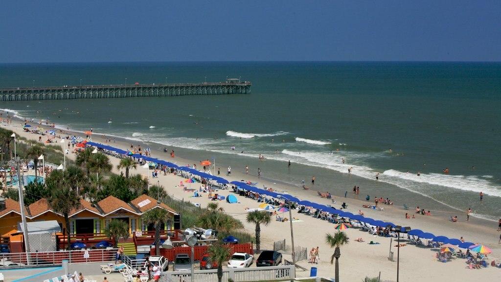 Myrtle Beach Que Inclui Cenas Tropicais Uma Praia De Areia E Um Hotel Luxo
