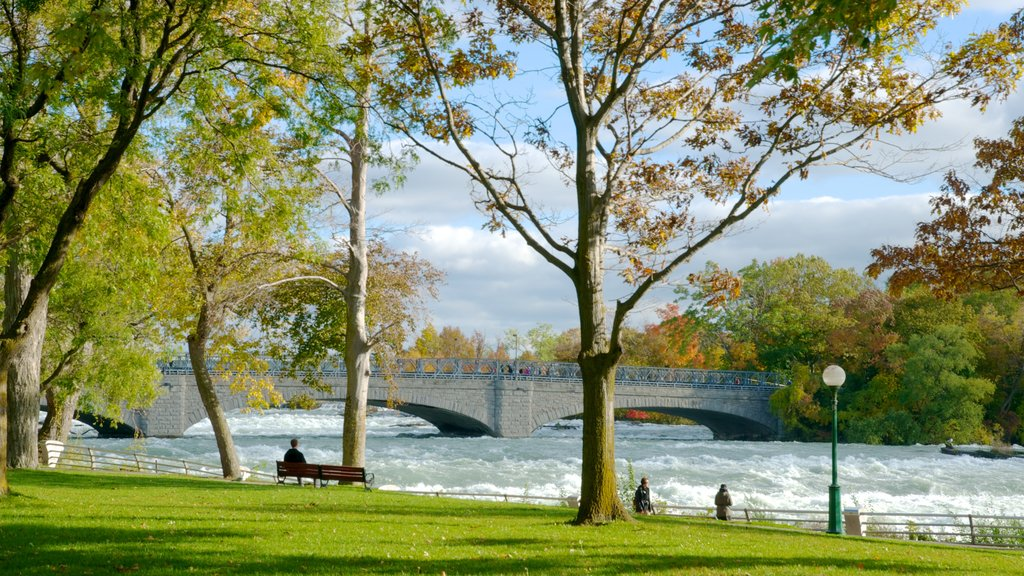 Niagara Falls which includes a river or creek, a garden and heritage architecture