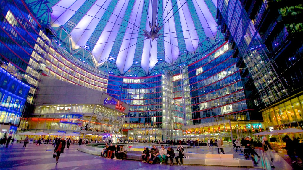 Potsdamer Platz which includes a square or plaza, a city and interior views