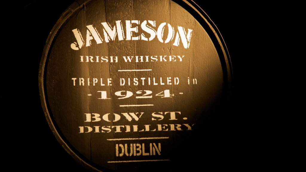 Old Jameson Distillery showing signage