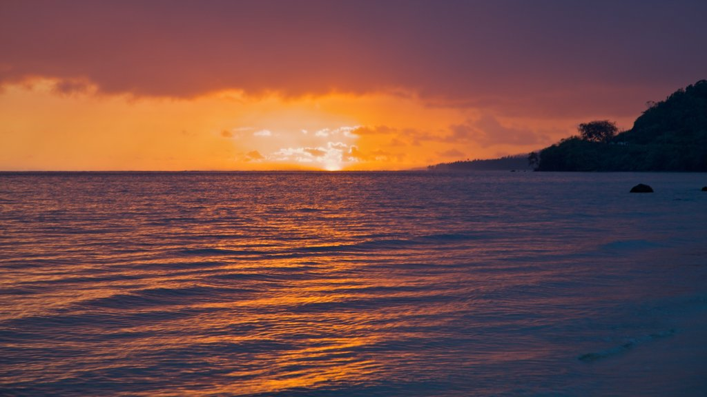 Coral Coast which includes general coastal views, a sunset and tropical scenes