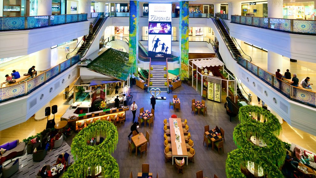 Grand Indonesia Shopping Mall showing interior views and shopping