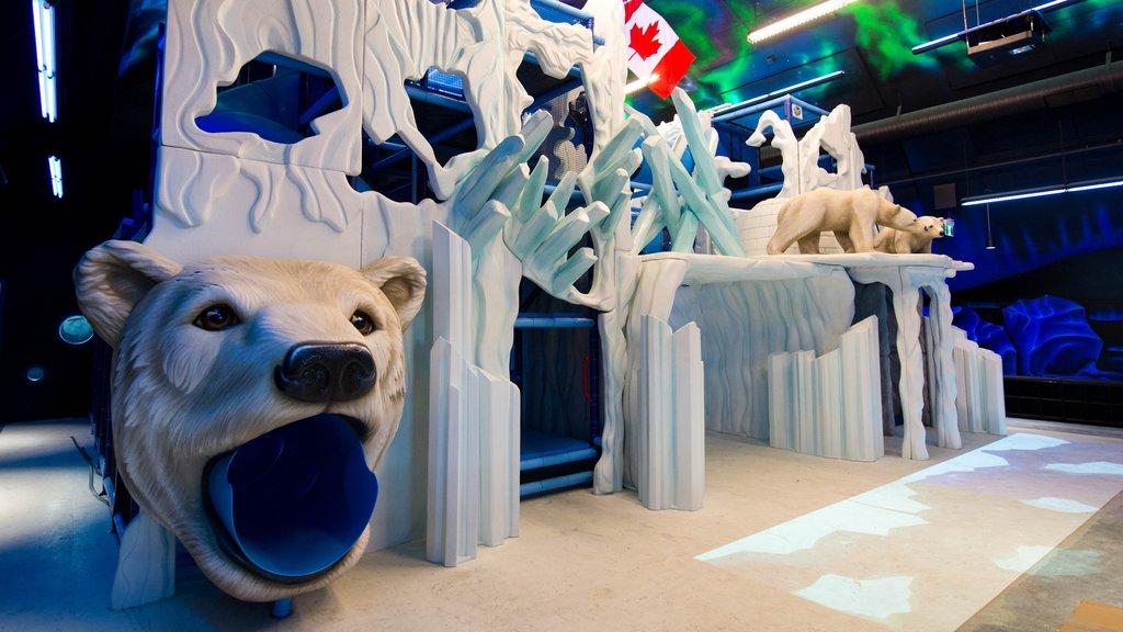 Winnipeg ofreciendo un parque infantil y vistas interiores