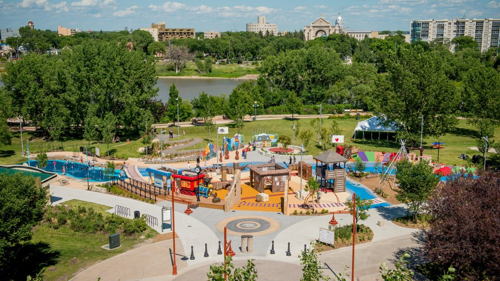 Winnipeg featuring a playground, a square or plaza and a park