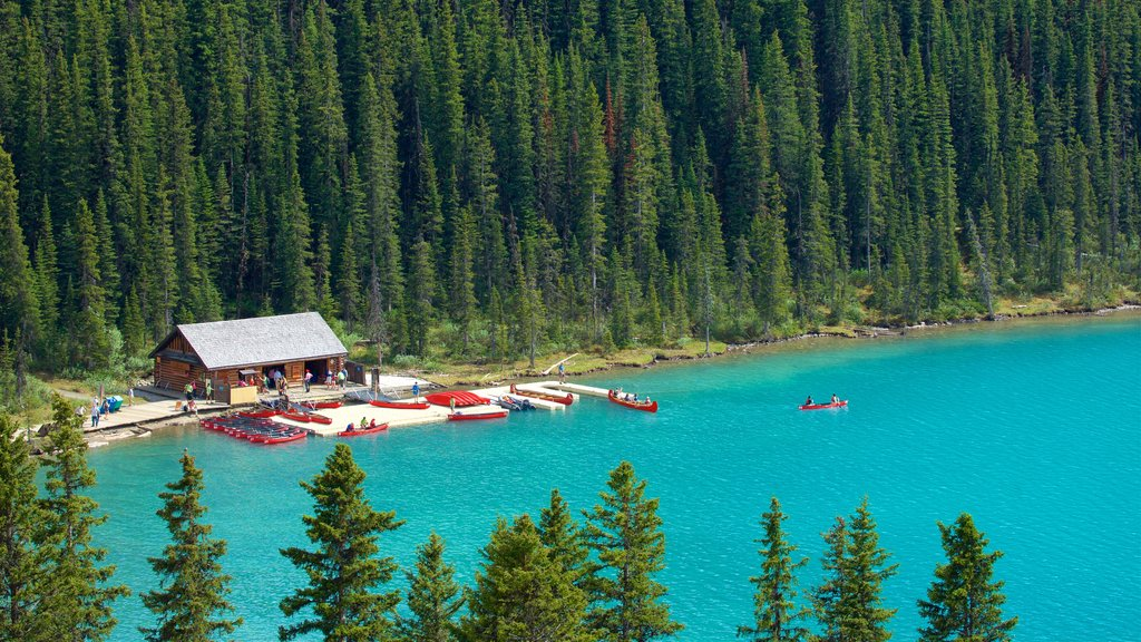 Banff National Park which includes a lake or waterhole, kayaking or canoeing and tranquil scenes