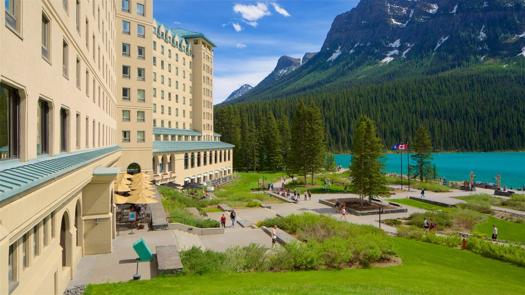 Banff National Park which includes a garden, a lake or waterhole and tranquil scenes