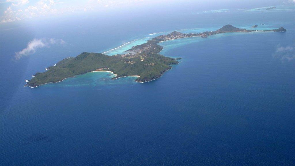 San Vicente y las Granadinas mostrando imágenes de una isla