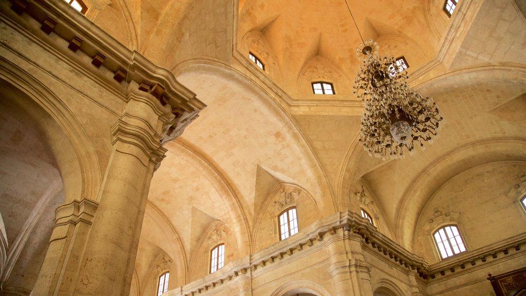 Havana Cathedral que incluye una iglesia o catedral y vistas interiores
