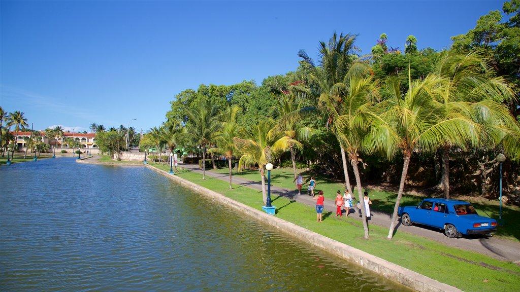Josone Park featuring a garden and a lake or waterhole
