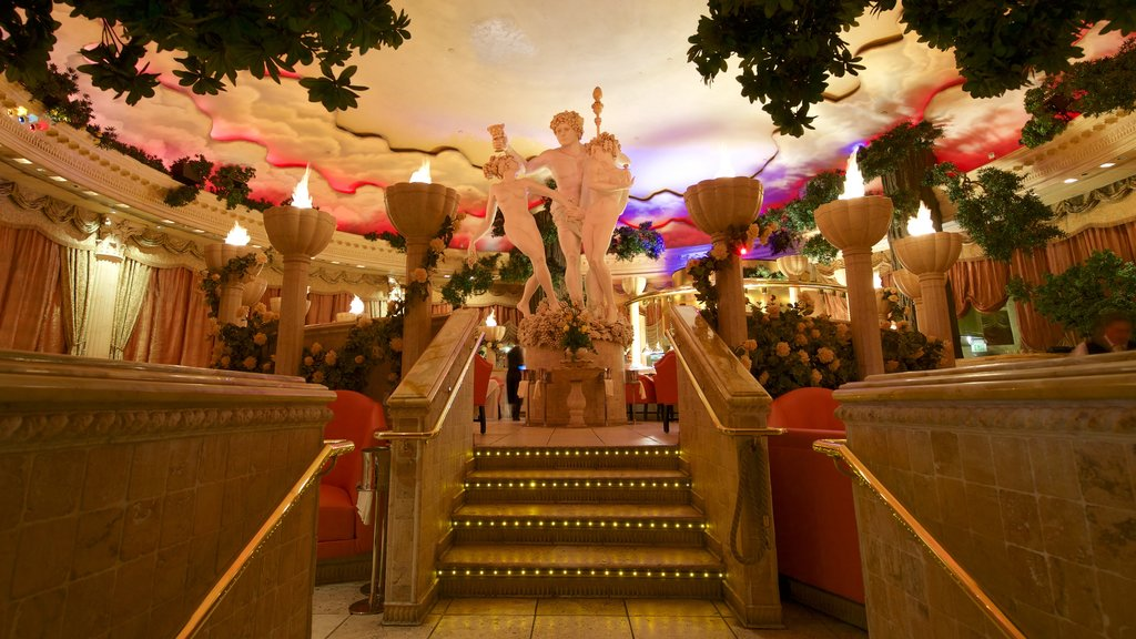 Reno featuring interior views, a statue or sculpture and a casino