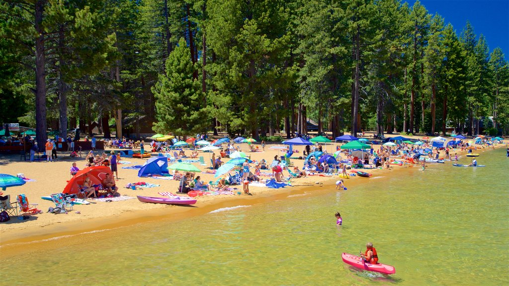 South Lake Tahoe featuring swimming, a lake or waterhole and kayaking or canoeing