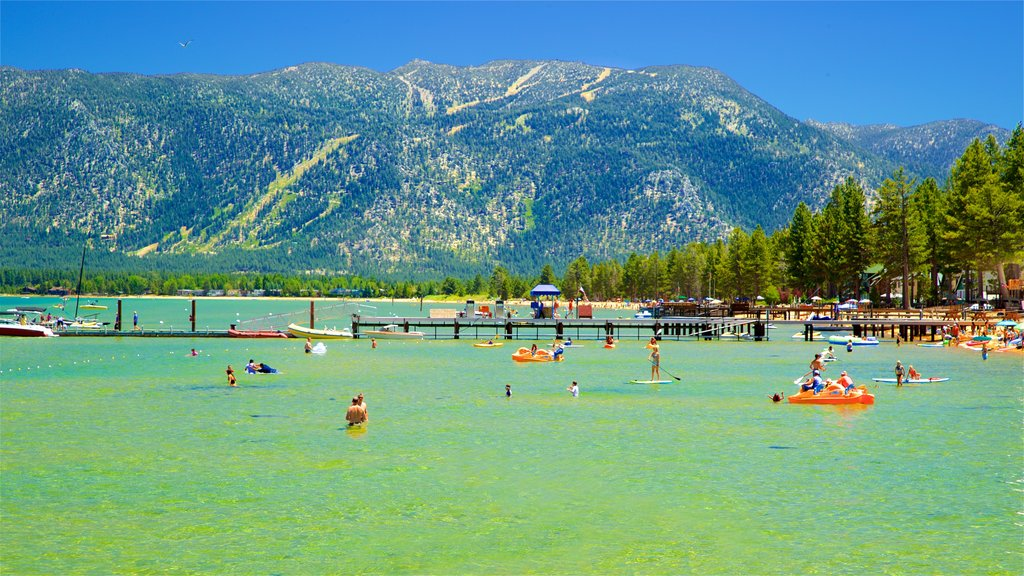 South Lake Tahoe featuring kayaking or canoeing, swimming and a lake or waterhole