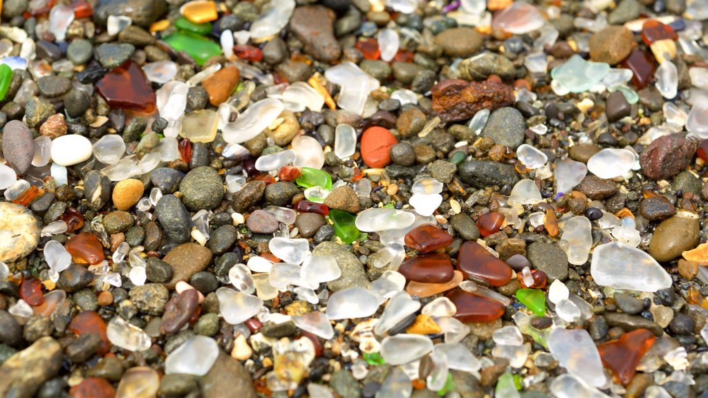 Glass Beach featuring a pebble beach