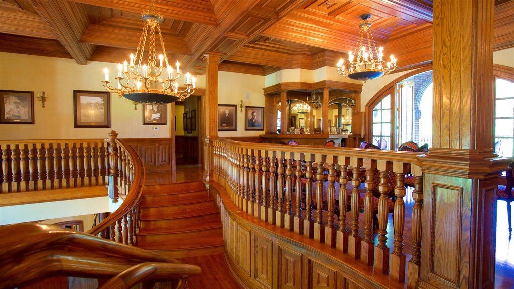 Ledson Winery and Vineyards featuring heritage elements and interior views